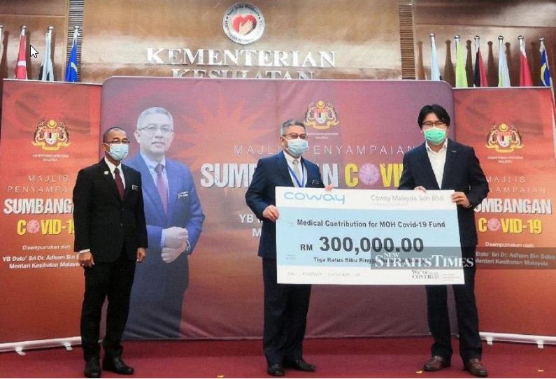 Coway Malaysia menyumbang RM300,000 kepada Dana Covid-19 Kementerian Kesihatan